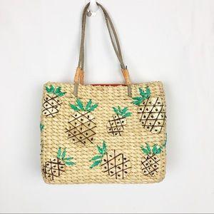 Handbags - Pineapple Straw Bag